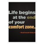 Life begins at the end (Large Template Editable) Poster