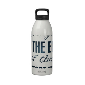 life begins at the end of the comfort zone drinking bottle