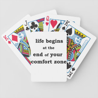 life begins at the end of your comfort zone bicycle playing cards