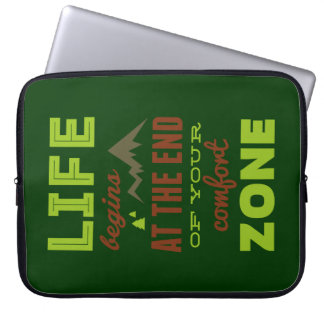 Life begins at the end of your comfort zone. computer sleeve