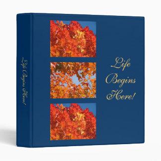 Life Begins Here! binders School Autumn