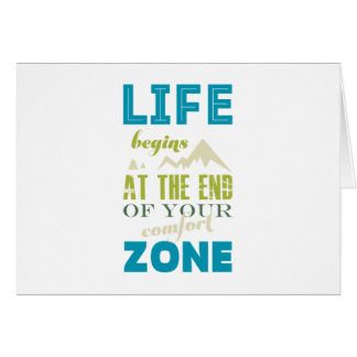Life begins Inspirational Quote Typography Print Card