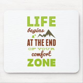 Life begins!Vintage Inspirational Design Mouse Pad