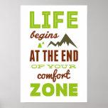Life begins!Vintage Inspirational Poster