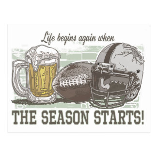 Life Begins when Football Season Starts Postcard