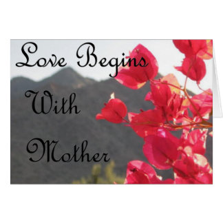 Life Begins with Mother Card