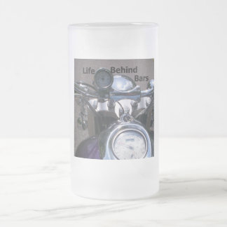 Life Behind Bars2 Frosted Glass Beer Mug