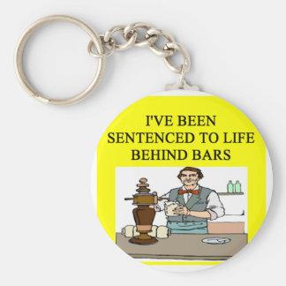 life behind bars drinking beer joke basic round button keychain
