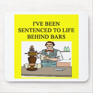 life behind bars drinking beer joke mouse pad