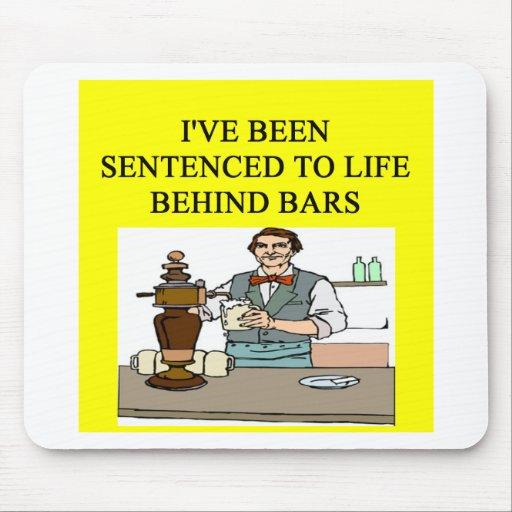 life behind bars drinking beer joke mouse mat