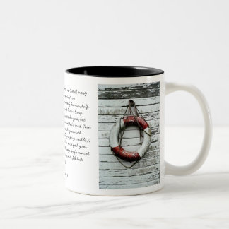 Life-belt of Faith | Two-Tone Coffee Mug