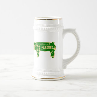 Life Better W/ Pigs Beer Stein