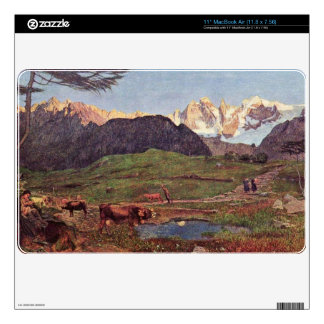 Life by Giovanni Segantini Decals For The MacBook