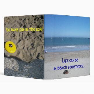 Life can be a beach sometimes... binder