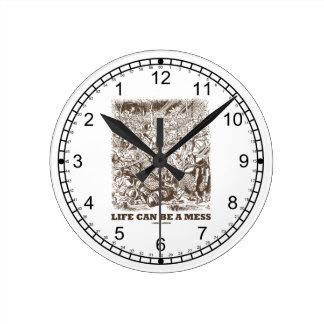 Life Can Be A Mess Wonderland Backwards Clock Face