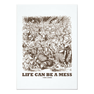 Life Can Be A Mess (Wonderland Looking Glass) Card