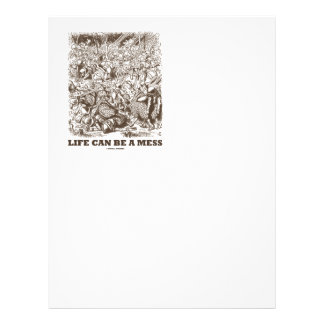 Life Can Be A Mess (Wonderland Looking Glass) Letterhead