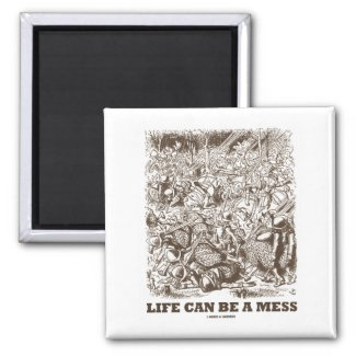 Life Can Be A Mess (Wonderland Looking Glass) Magnet