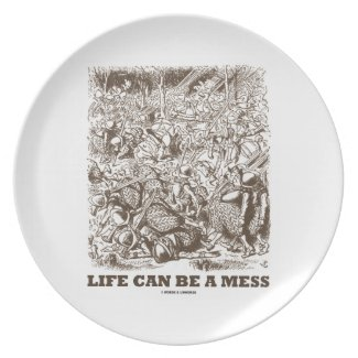 Life Can Be A Mess (Wonderland Looking Glass) Plate