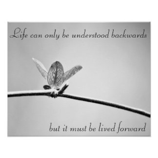 Life can only be understood backwards, poster