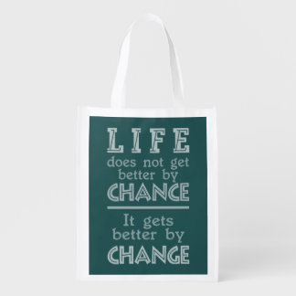 LIFE CHANGE custom inspirational bag