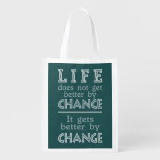LIFE CHANGE custom inspirational bag Market Totes
