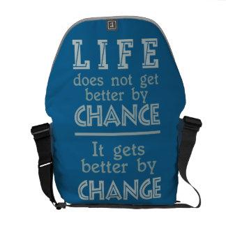 LIFE CHANGE custom messenger bags