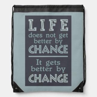 LIFE CHANGE inspirational bag