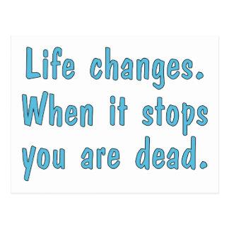 Life Changes Postcard
