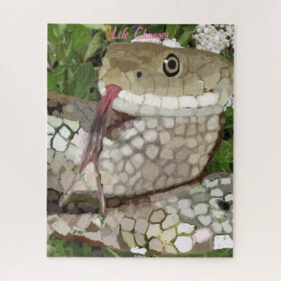 Life Changes, Snake Symbolism of Transformation Jigsaw Puzzle