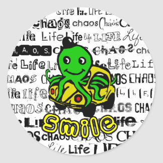 Life, Chaos - Smile! Classic Round Sticker