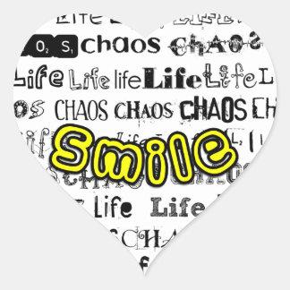 Life, Chaos - Smile! Heart Sticker