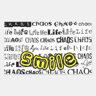 Life, Chaos - Smile! Rectangular Sticker