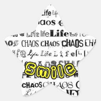 Life, Chaos - Smile! Star Sticker