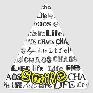 Life, Chaos - Smile! Triangle Sticker
