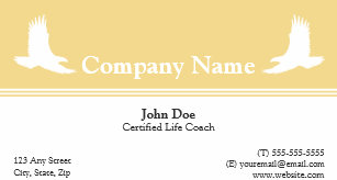 Certified Life Coach Business Cards Zazzle