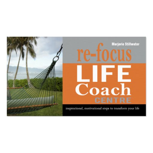 Life Coach Centre Personal Goals Motivational Business Card Templates