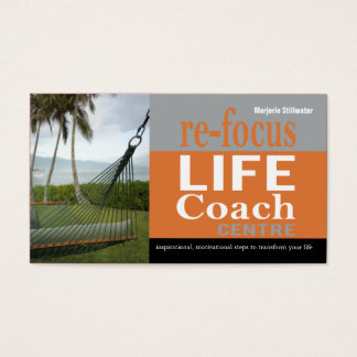Life Coach Centre Personal Goals Motivational Business Card