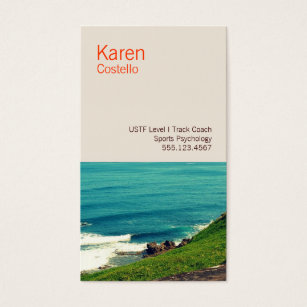 Motivational speaker business cards templates zazzle life coach colorful ocean view business card colourmoves