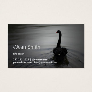Life Coach Counselor Elegant Black Swan Business Card