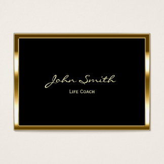 Life Coach Counselor Therapy Gold Border Business Card