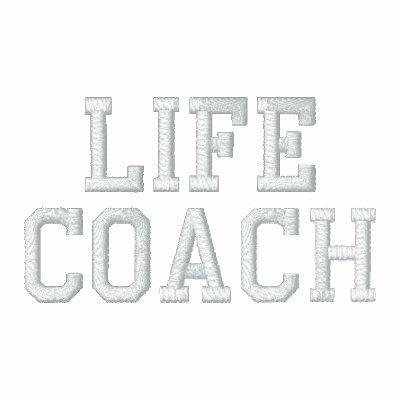 life coach embroidered hoodies