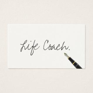 Life Coach Free Handwriting Script Business Card at Zazzle