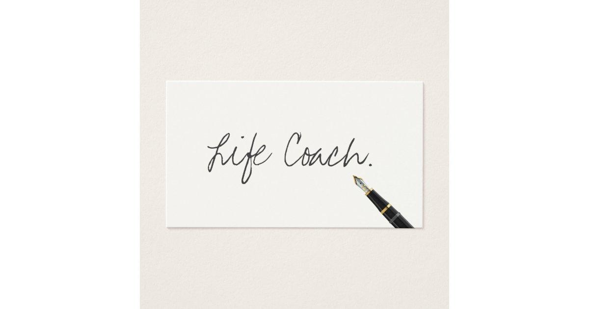Life Coach Free Handwriting Script Business Card   Zazzle.com