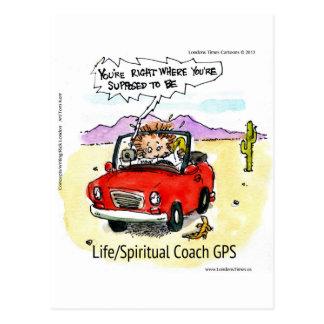 Life Coach GPS Postcard