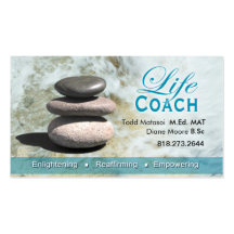 Life Coach II Personal Goals Spiritual Counseling Double-Sided Standard Business Cards (Pack Of 100)