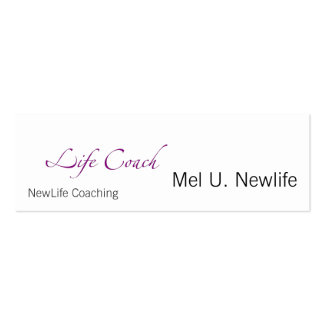 Life Coach Text Swash Double-Sided Mini Business Cards (Pack Of 20)