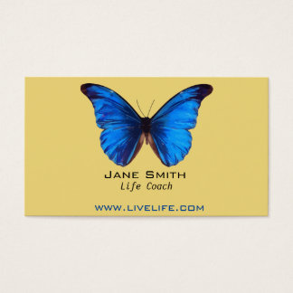 Life Coach wellbeing butterfly freelance Business Card