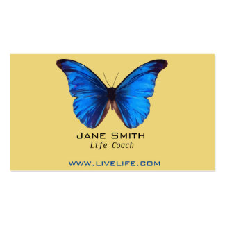 Life Coach wellbeing butterfly freelance Double-Sided Standard Business Cards (Pack Of 100)