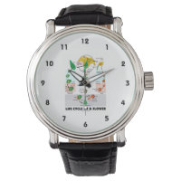 Life Cycle Of A Flower (Angiosperm) Wristwatch